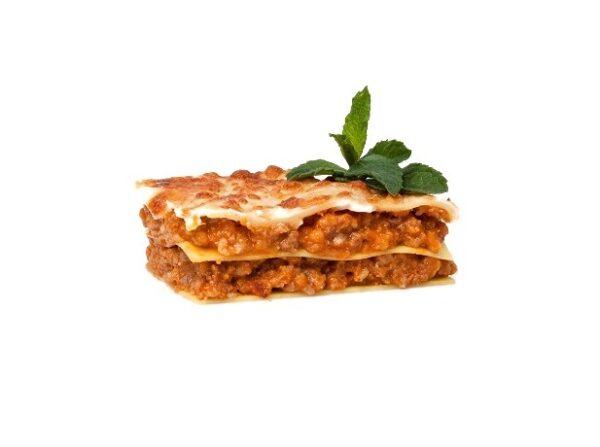 producto precocinado congelado lasaña bolonesa