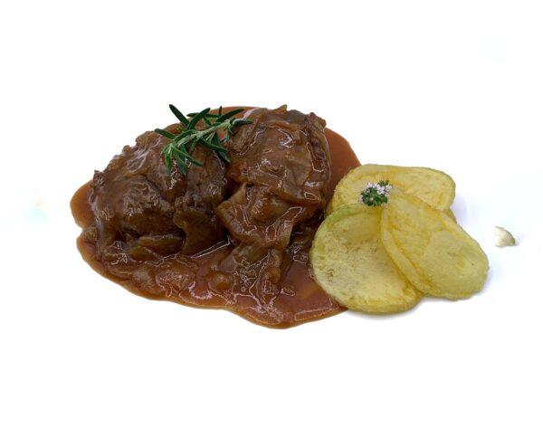 comida congelada de quinta gama carrillera de ternera en salsa barbacoa