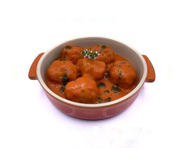 producto congelada comida quinta gama albondigas con tomate