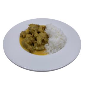 platos precocinado congelado pollo al curri con arroz basmati