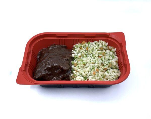 platos preparados 5 gama ternera confitada con arroz y verduras
