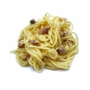 plat precuinat espaguetis amb salsa carbonara