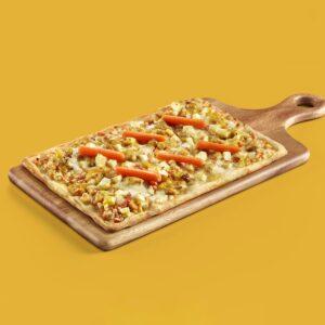 pizza precocinada congelada cocapizza de pollo al curry